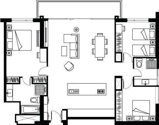 Somerset West Point 3 Bedroom Apartment