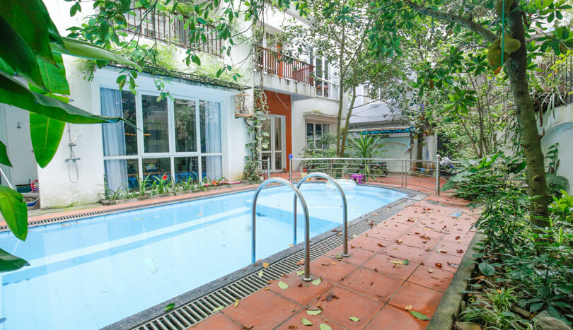 house with swimming pool in tay ho