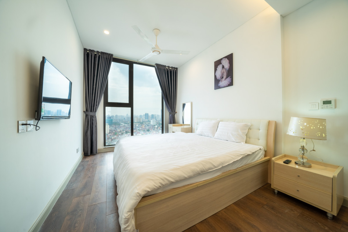 City View Apartment For Rent In Sun Grand Thuy Khue Tay Ho