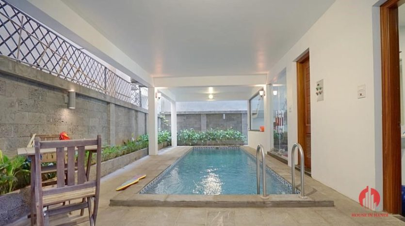 house for rent in swimming pool in tay ho 19