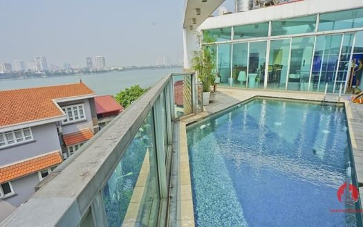 house for rent in tay ho with rooftop swimming pool 21