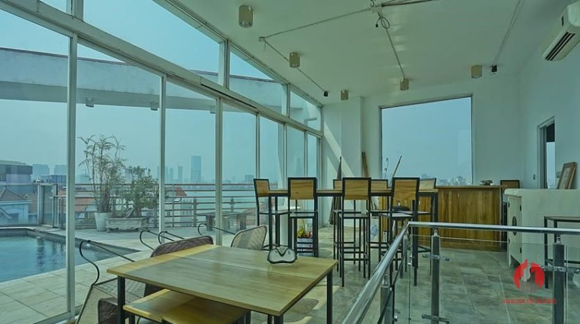 house for rent in tay ho with rooftop swimming pool 28