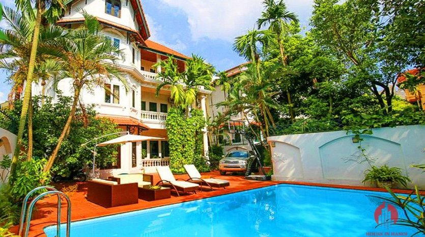 marvellous pool villa for rent in tay ho 1