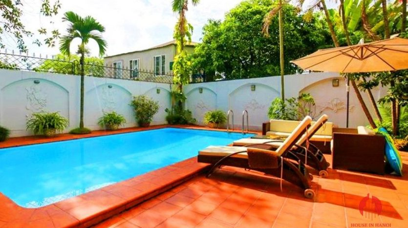 marvellous pool villa for rent in tay ho 2
