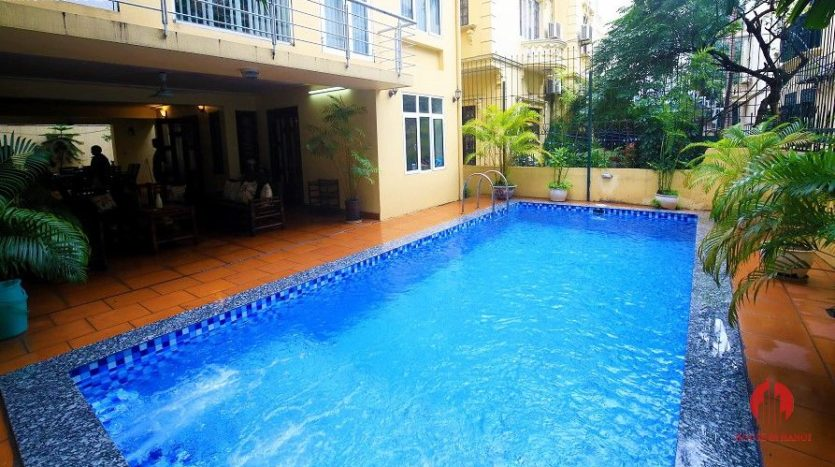 pool villa for rent in quang an 24