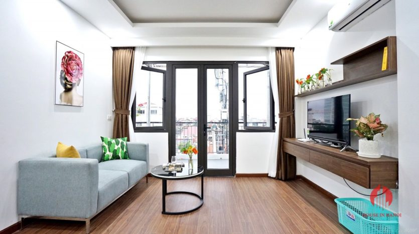 1BR apartment with SUPER LARGE BALCONY on Xuan Dieu street 6