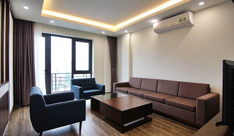 2BR apartment for rent on the front of To Ngoc Van street Tay Ho dist 2