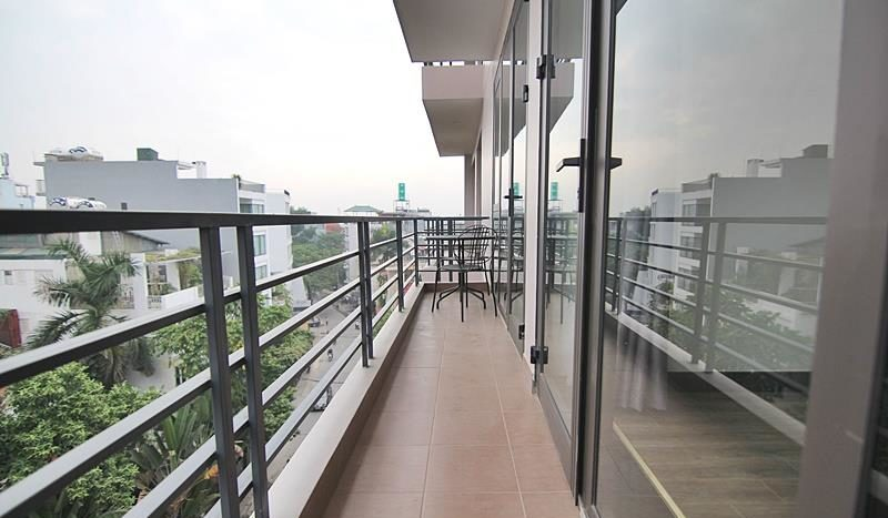2BR apartment for rent on the front of To Ngoc Van street Tay Ho dist 3