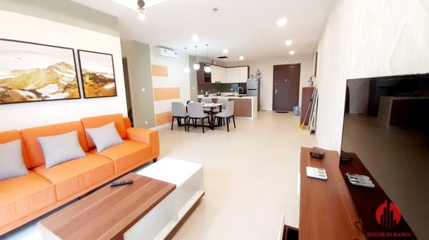 Colorful 2BR apartment for rent near Korean Embassy Tay Ho district 7
