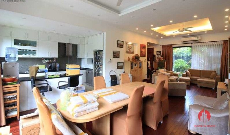 Contemporary one floor house with garden for rent in Tay Ho district 8 result