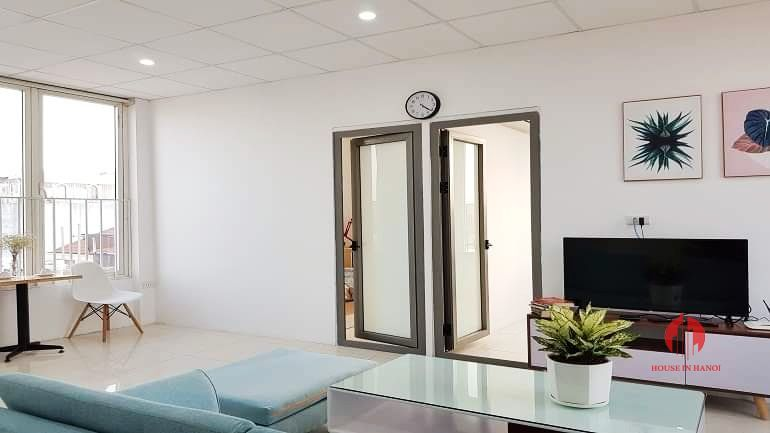 Gentle airy 3 bedroom apartment for rent on Au Co street Tay Ho 2