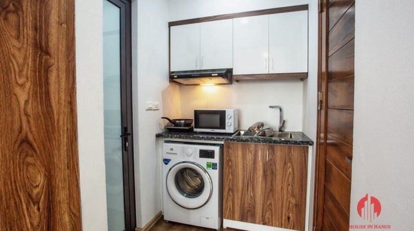 studio for rent in tay ho with windy rooftop 12