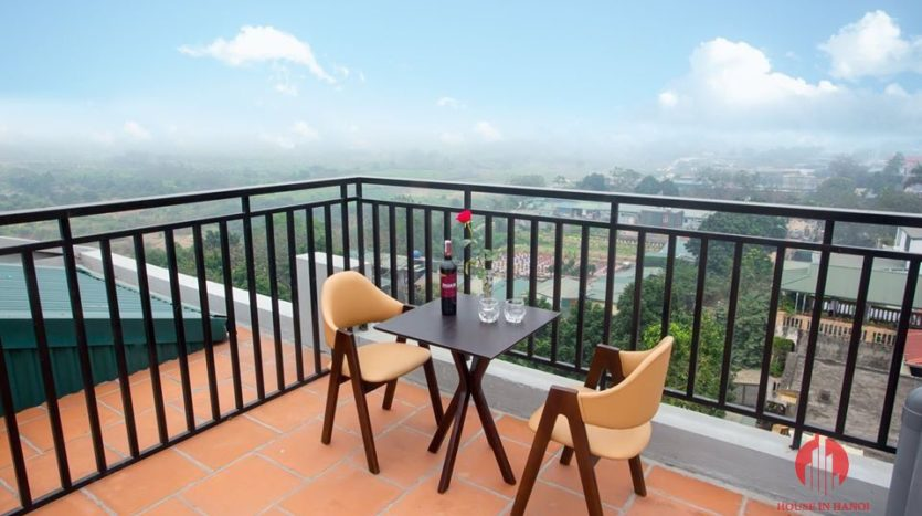 studio for rent in tay ho with windy rooftop 15