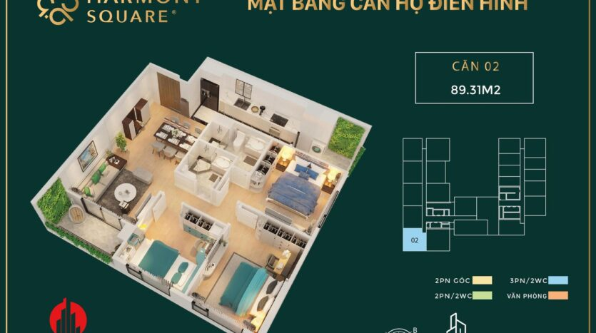 harmony square floor plan 3