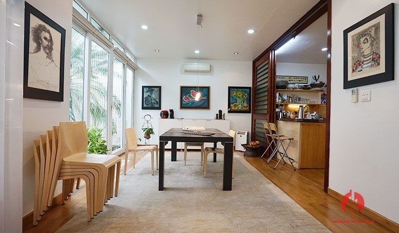 Contemporary villa with pool for lease on To Ngoc Van street Tay Ho 12