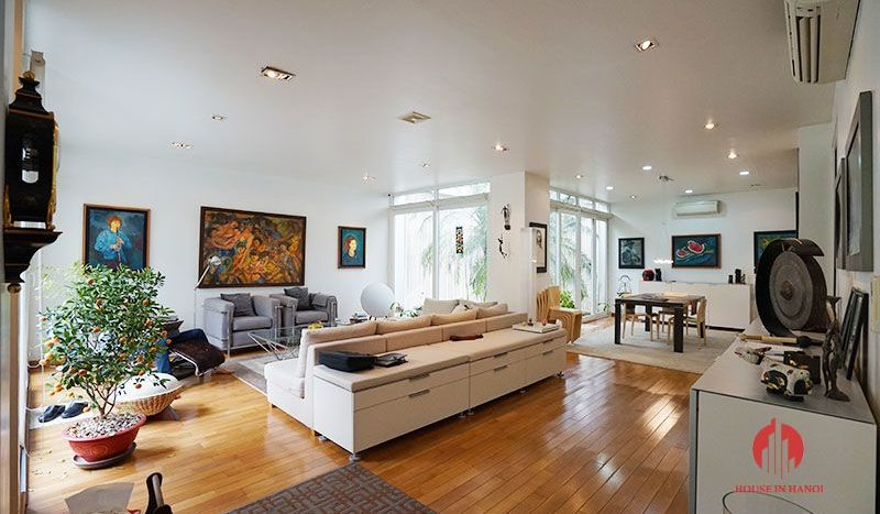 Contemporary villa with pool for lease on To Ngoc Van street Tay Ho 5