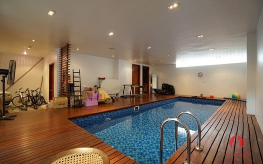 Contemporary villa with pool for lease on To Ngoc Van street Tay Ho