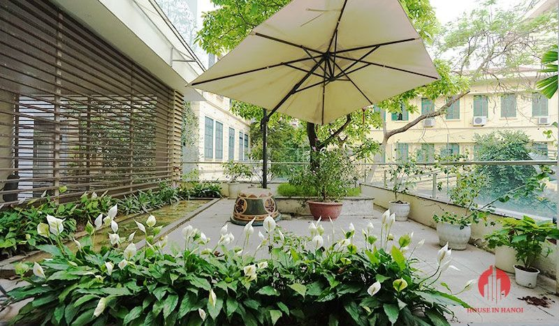 Contemporary villa with pool for lease on To Ngoc Van street Tay Ho 9