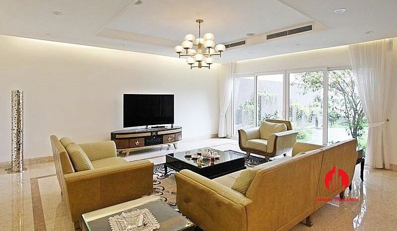Open plan style villa for rent with golf view in Ciputra Hanoi 1