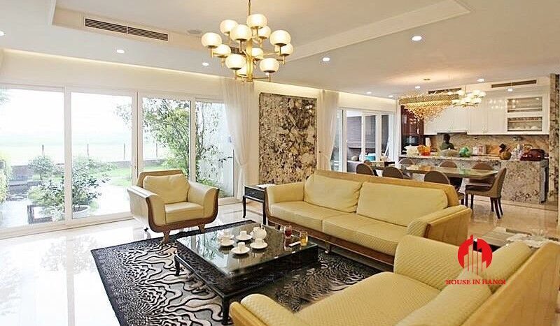 Open plan style villa for rent with golf view in Ciputra Hanoi 7