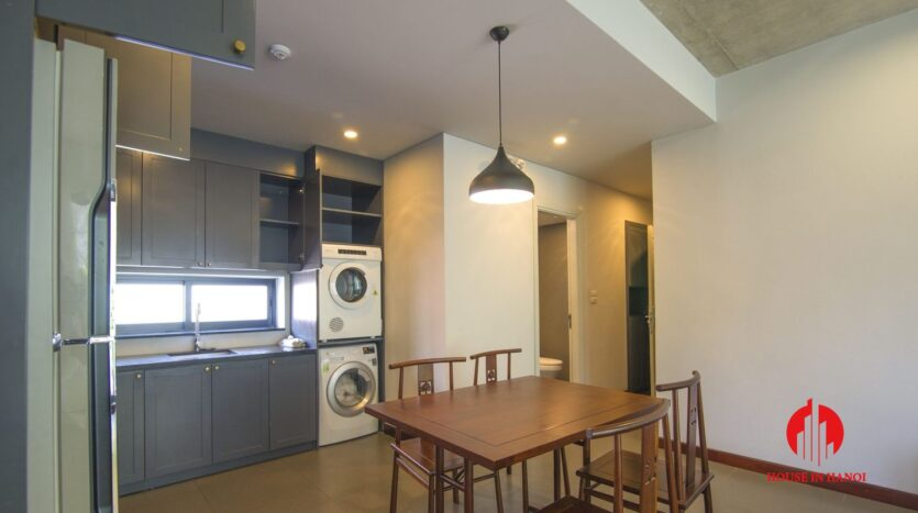 dark themed apartment for rent in tay ho 10