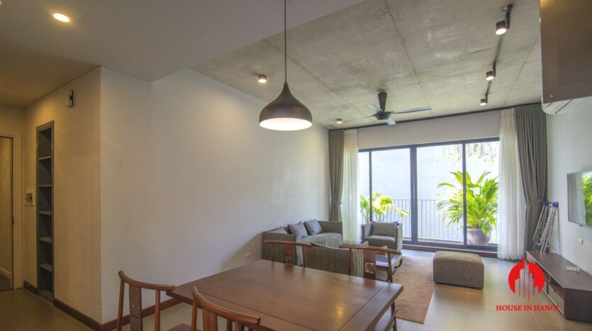 dark themed apartment for rent in tay ho 3