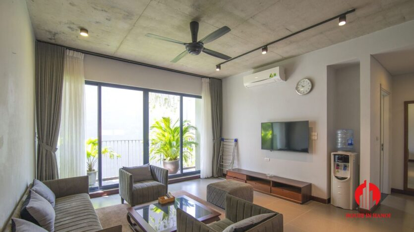 dark themed apartment for rent in tay ho 5