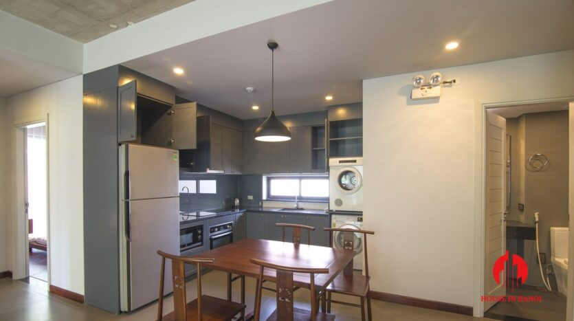 dark themed apartment for rent in tay ho 8