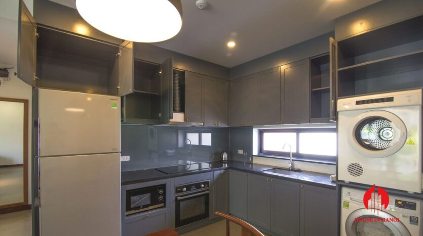 dark themed apartment for rent in tay ho 9