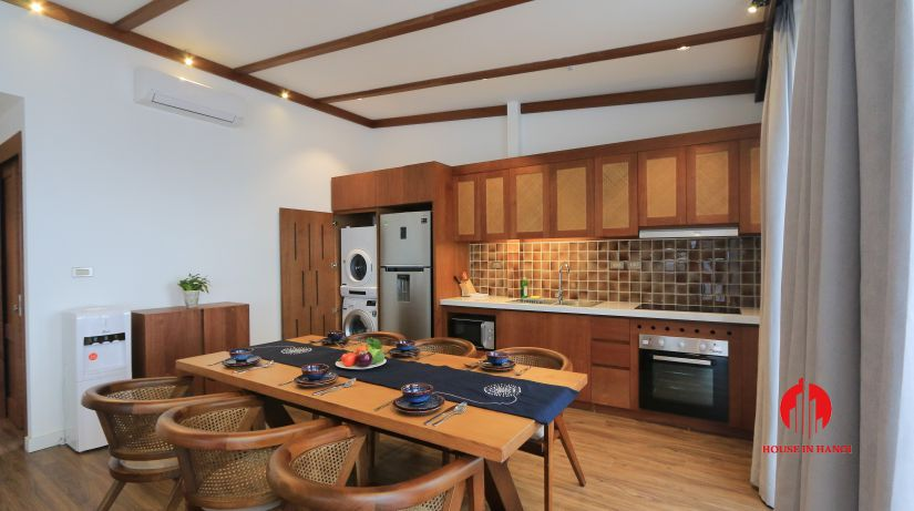 japanese style 3BR apartment for rent on dao tan ba dinh 5