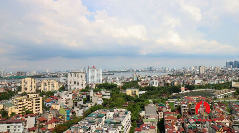low price lake view 3BR apartment for rent in Kosmo Tay Ho 1