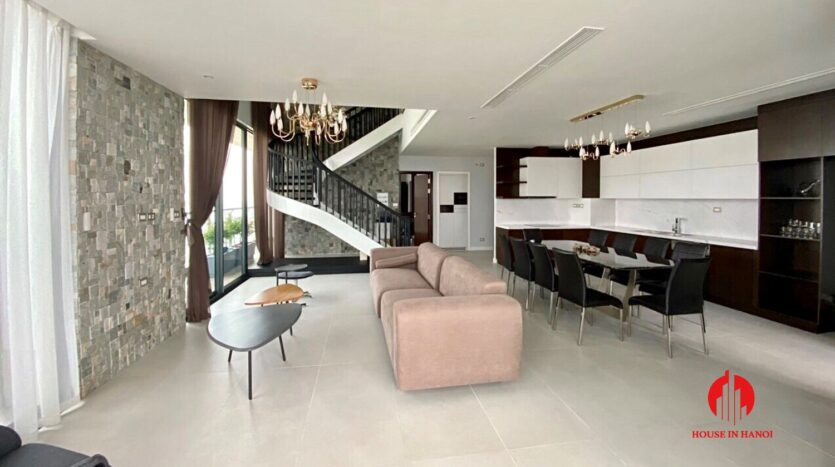 nice penthouse for rent in ngoai giao doan 10