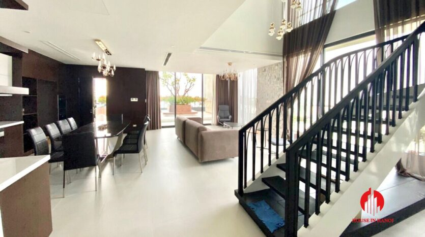 nice penthouse for rent in ngoai giao doan 14