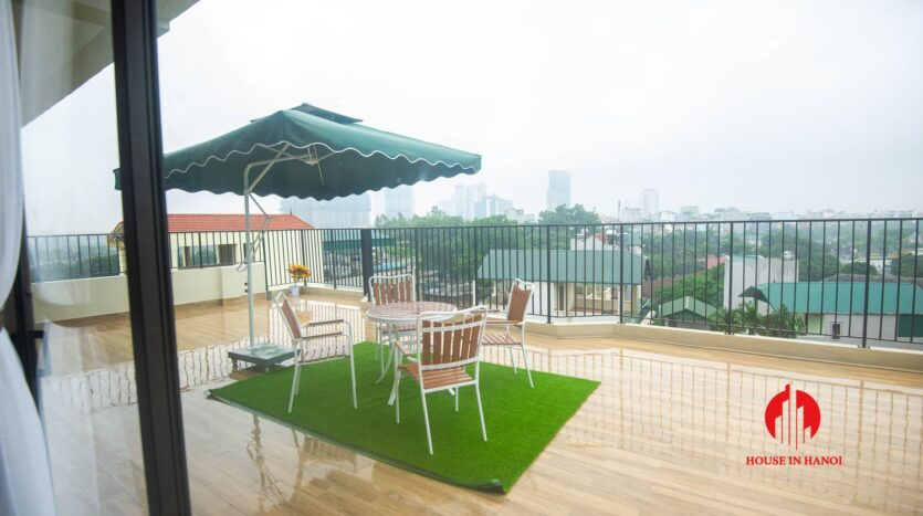 terrace apartment for rent in tay ho 5