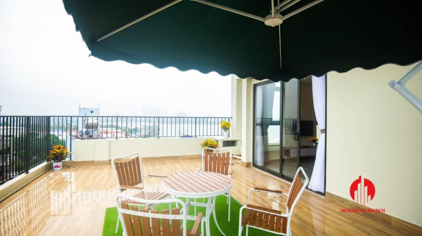 terrace apartment for rent in tay ho 6
