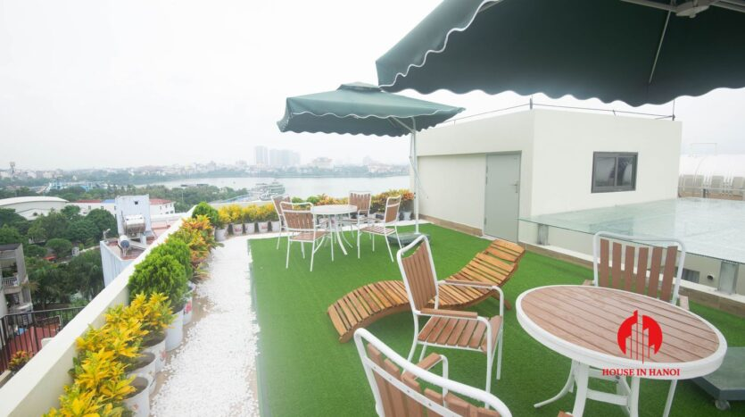 terrace apartment for rent in tay ho 8