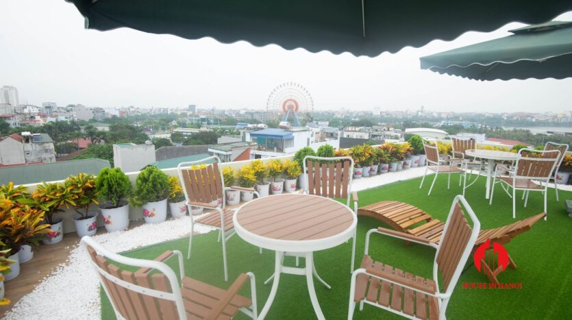 terrace apartment for rent in tay ho 9