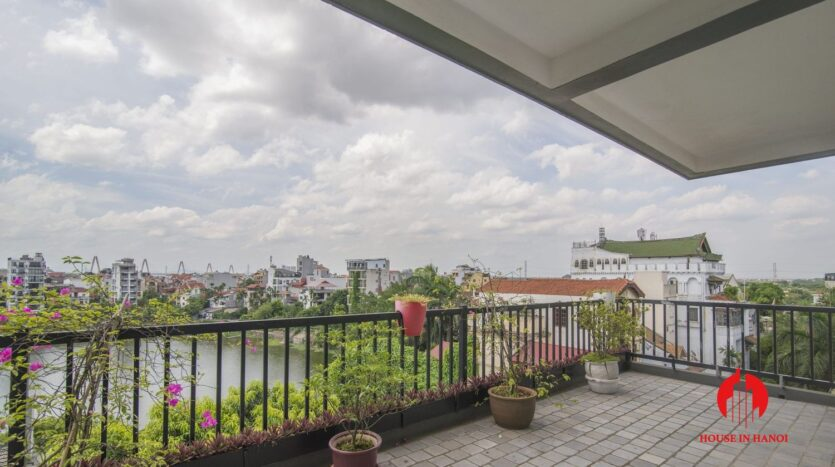 big balcony 4 bedroom apartment with lake view tay ho 8
