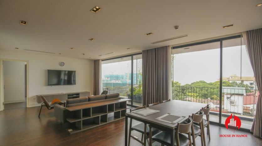 lake view 200m2 apartment for rent in tay ho 1