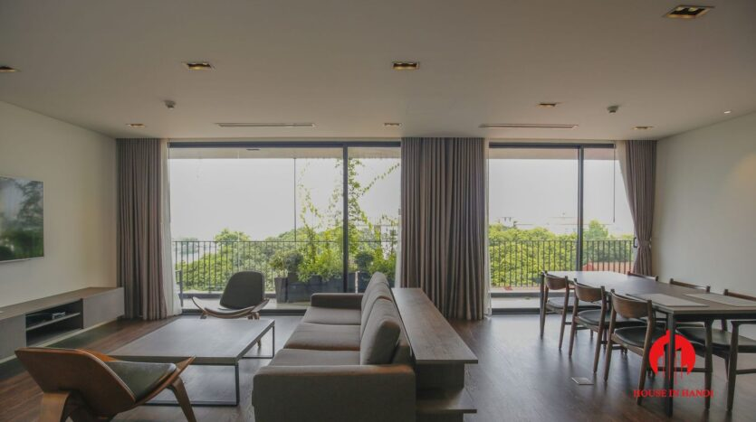 lake view 200m2 apartment for rent in tay ho 2