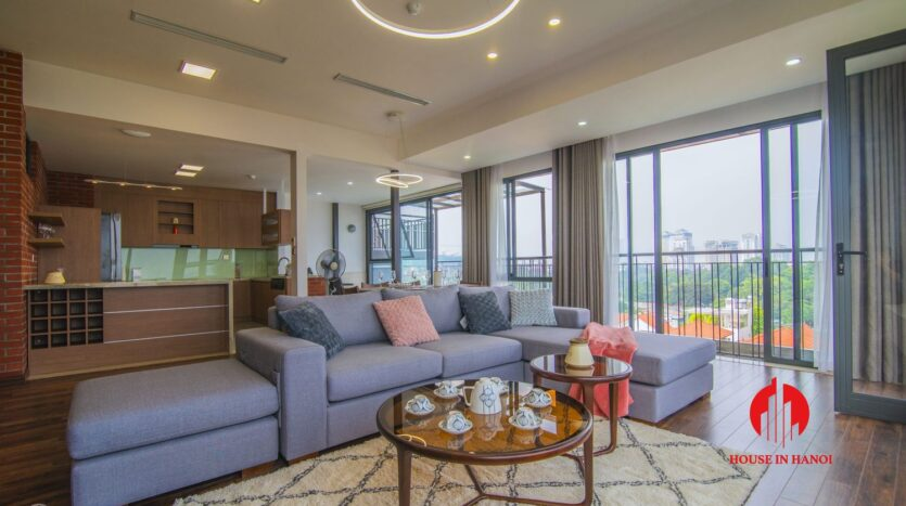 lake view penthouse for rent in tay ho 1