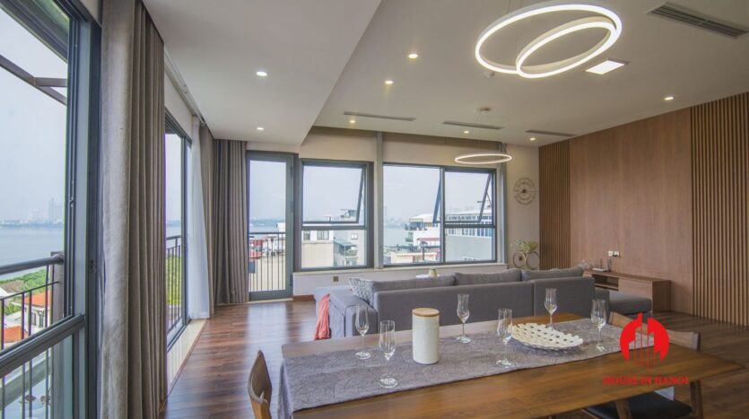 lake view penthouse for rent in tay ho 12