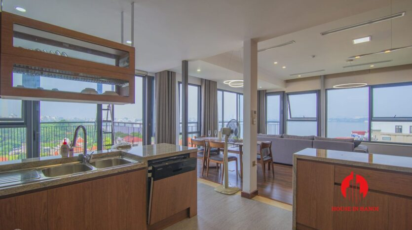 lake view penthouse for rent in tay ho 3