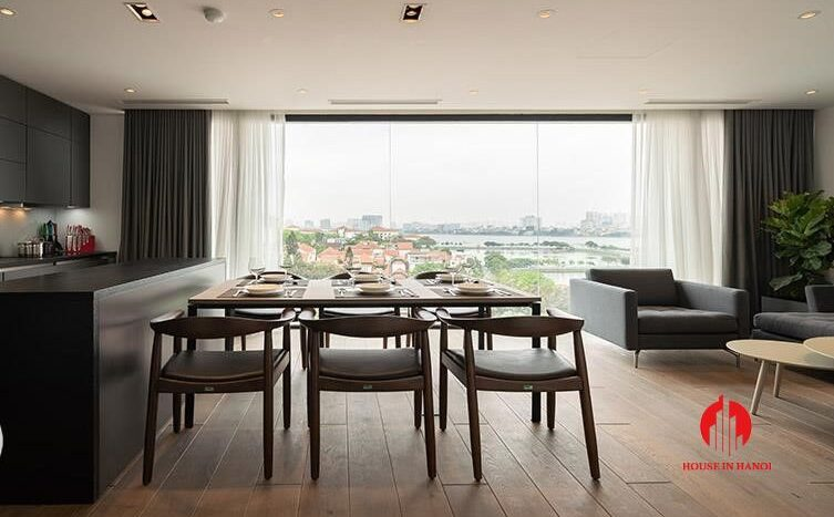 outstanding lake view apartment for rent on to ngoc van 5