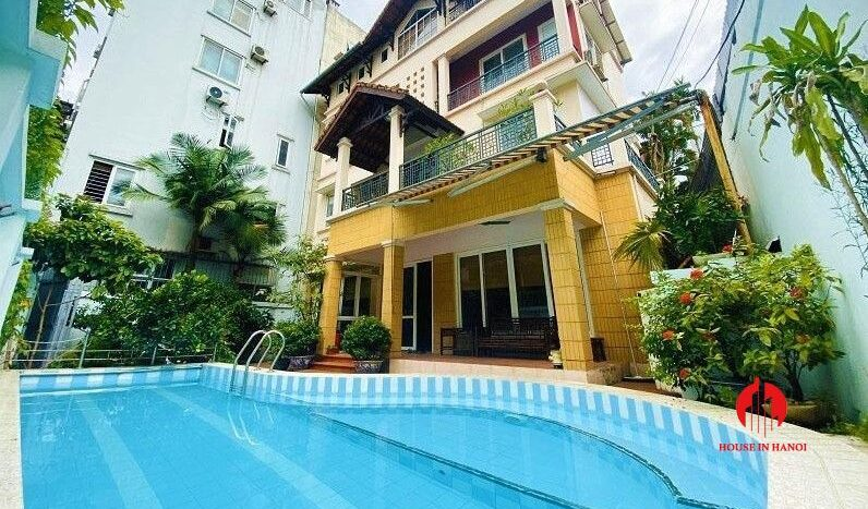 pool villa with lake view for rent in tay ho 2