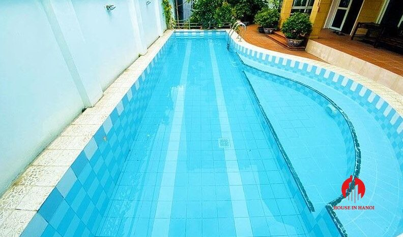 pool villa with lake view for rent in tay ho 5