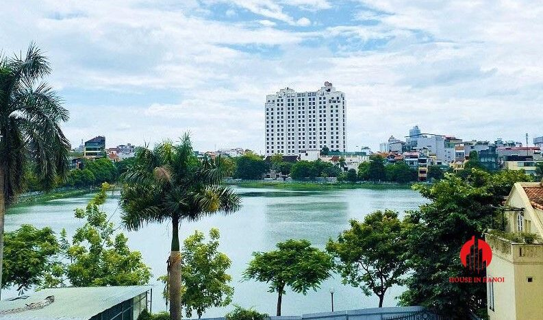 pool villa with lake view for rent in tay ho 6