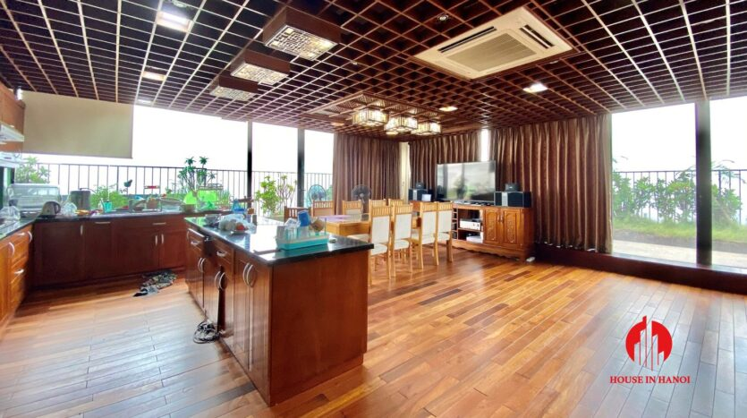 sky villa penthouse for rent in tay ho 13