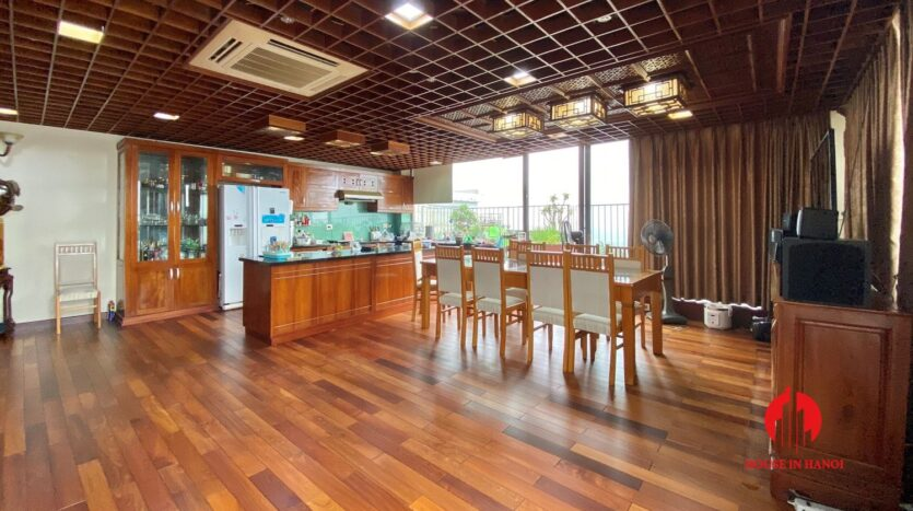 sky villa penthouse for rent in tay ho 19