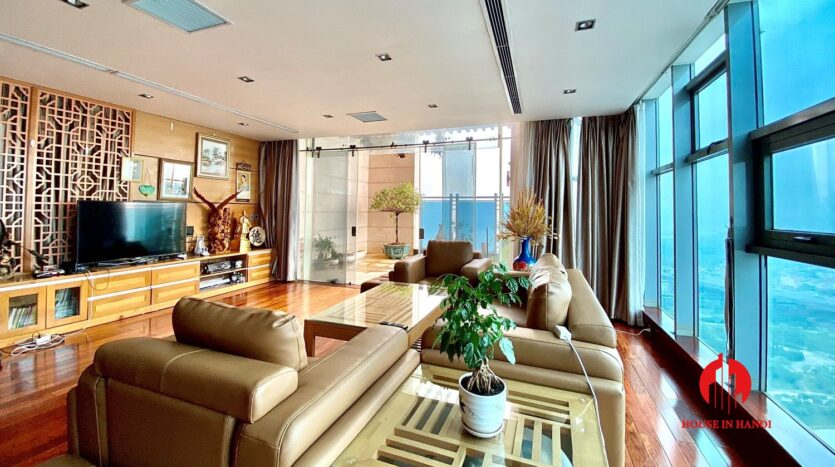 sky villa penthouse for rent in tay ho 7